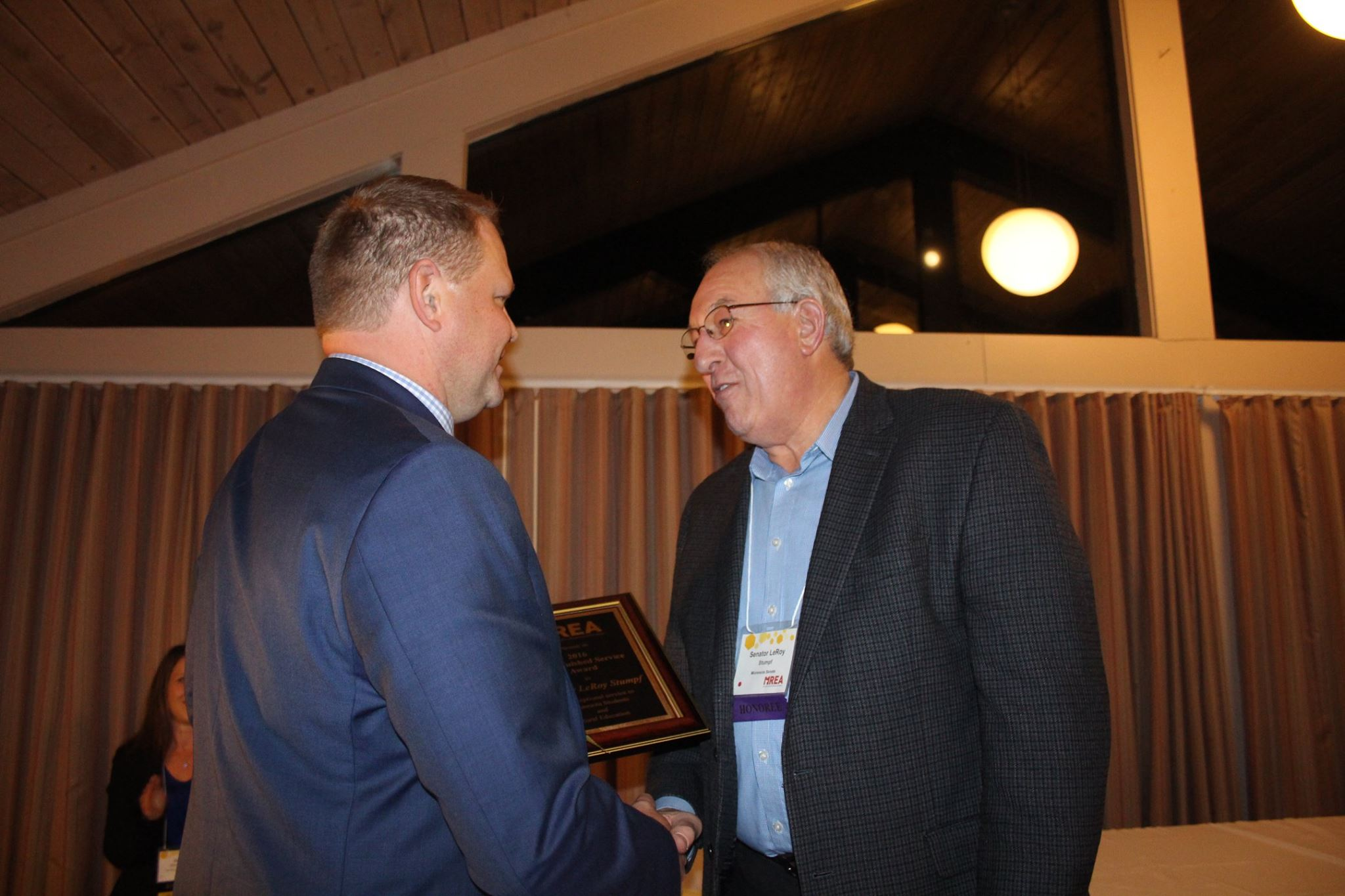 Stumpf Receives MREA's Distinguished Service Award